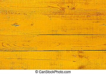 Detail of yellow wooden fence