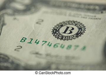 Detail on dollar banknote