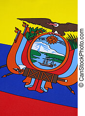 Detail on the flag of Ecuador
