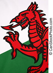 Detail on the flag of Wales - United Kingdom