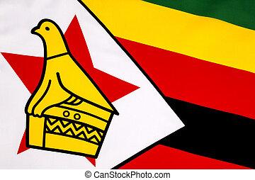 Detail on the flag of Zimbabwe