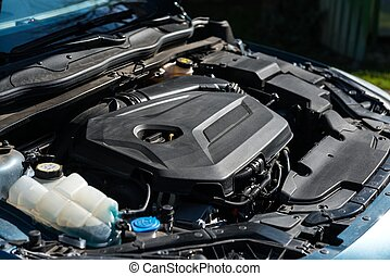 Detail photo of a car engine