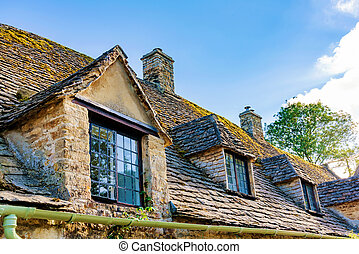 Detail photograph of cottages