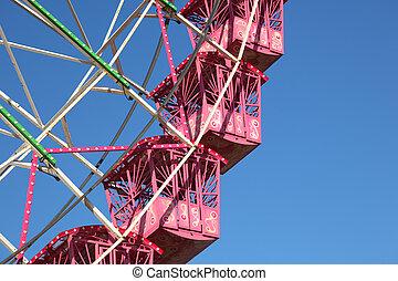 Detail shot of a ferris wheel