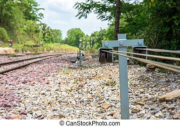 detail shot of a railroad track
