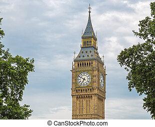 Detail shot of the Big Ben, London