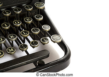 Detail of an old antique type-writer