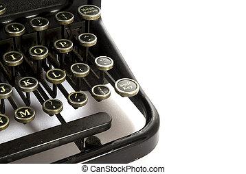 Detail type-writer - Detail of an old antique type-writer