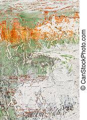 detail, van, een, abstract, acrylic schilderstuk