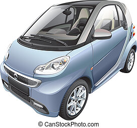 modern subcompact car - Detail vector image of modern ...