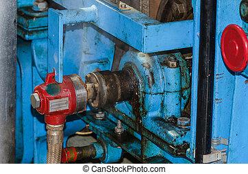 Detail view of a crankshaft bearing
