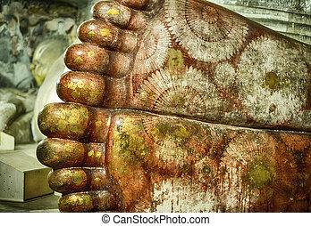 Detail View Of Buddha's Feet - Detail view of Buddha's feet...