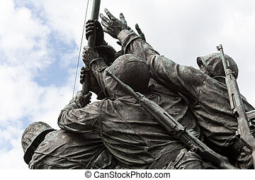 detail, von, iwo jima denkmal, in, washington dc