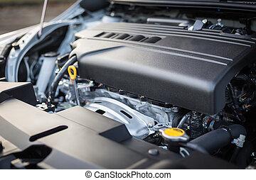 detail, von, neues auto, motor