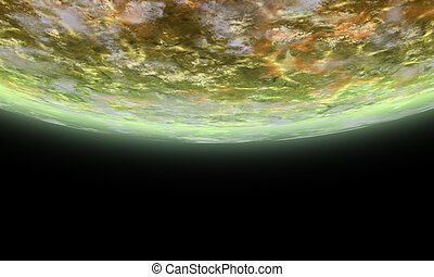 Alien Horizon - Detailed 3D rendered scenery of an Alien ...