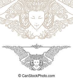 art-nouveau decorative divider - Detailed art-nouveau ...