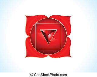 detailed base chakra vector illustration