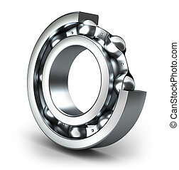 Detailed bearing design, isolated on white