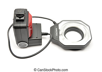 Detailed but simple image of ring flash