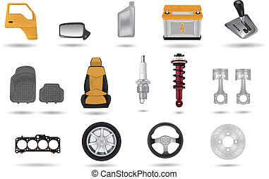 Detailed car parts illustrations se