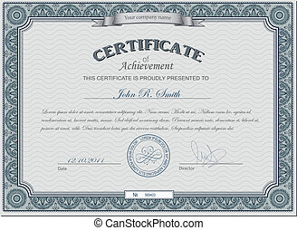 Detailed cerificate - Vector illustration of detailed ...