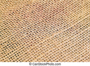 jute - detailed closeup of fabric of a jute sack