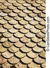 Detailed closeup of roof tiles outdoor shot - Textures and...