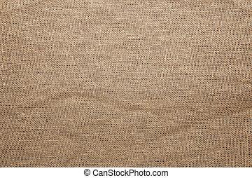 Detailed Closeup vintage old textured fabric burlap
