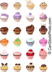 Detailed det with different birthday cakes - Detailed det...