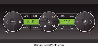 Detailed digital air condition control panel - High detailed...