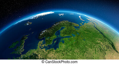 Detailed Earth. European part of Russia