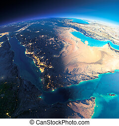 Detailed Earth. Saudi Arabia - Highly detailed planet Earth....