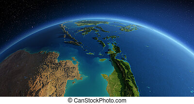 Detailed Earth. Southeast Asia. Indonesia - Highly detailed ...