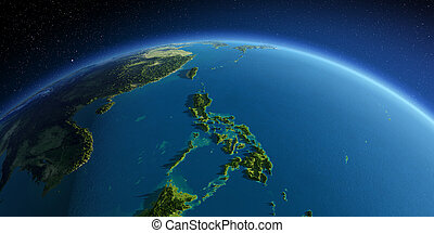 Detailed Earth. Southeast Asia. Philippines - Highly ...