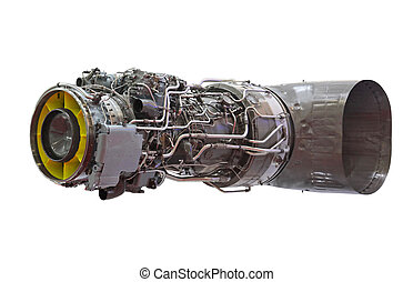 Detailed exposure of a turbo jet engine for helicopter