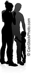 Detailed Family Silhouette