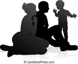 Detailed Family Silhouette - High quality and detailed...