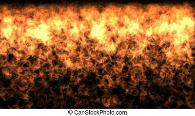 Detailed fire background, fire falls, Hd ,seamless loop
