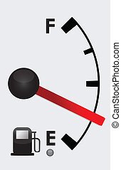 Detailed Gas tank almost empty