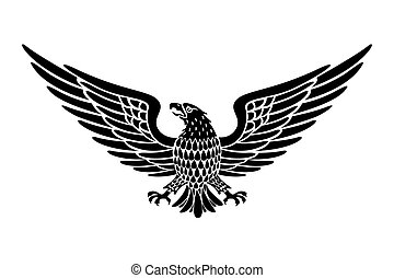 Detailed Hand Drawn Eagle Holding Scroll Vector