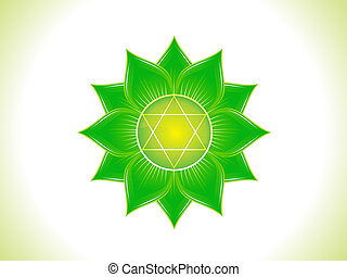 detailed heart chakra  - detailed green heart chakra
