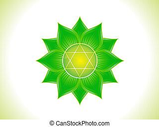 detailed green heart chakra
