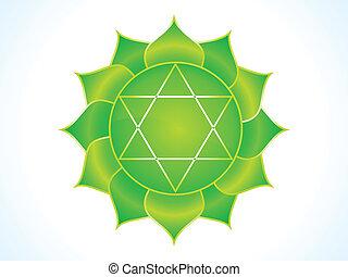 detailed heart chakra vector illustration