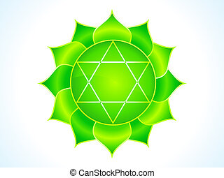 detailed heart chakra vector illustration