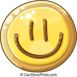 Detailed Icon. Cookie Smile isolated on white background