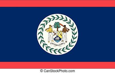 National Flag Belize - Detailed Illustration National Flag...