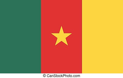 National Flag Cameroon - Detailed Illustration National Flag...