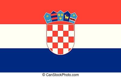 National Flag Croatia - Detailed Illustration National Flag...