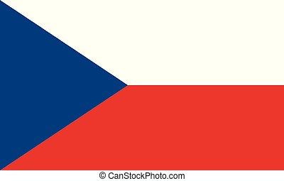 National Flag Czech Republic - Detailed Illustration...