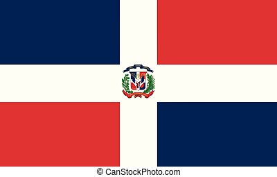 Detailed Illustration National Flag Dominican Republic
